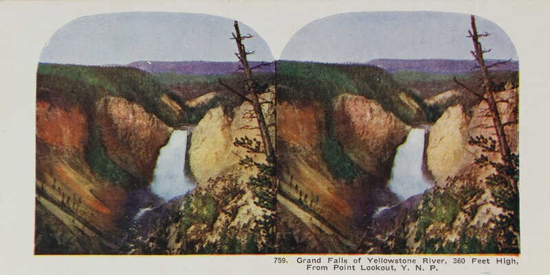 Grand Falls of Yellowstone River, From Point Lookout