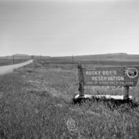 Entering Rocky Boys Indian Reservation, MT